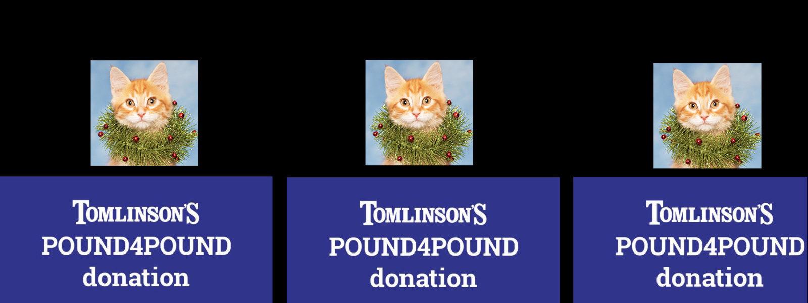 Pound 4 Pound food drive, November 20 to December 23